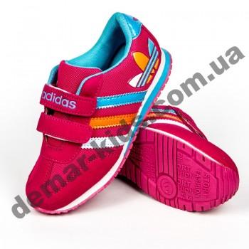 Детские кроссовки Adidas малиново-голубые