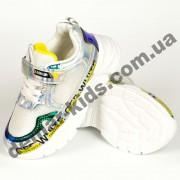 Детские кроссовки Alemy Kids бело-зелено-желтые