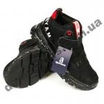 Детские полуботинки-кроссовки Apawwa MQ55-1 черно-красные