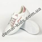 Детские кроссовки Apawwa VC43-1 бело-розовые