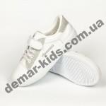 Детские кроссовки Apawwa VC43-1 SILVER бело-серые
