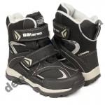 Детские термоботинки B&G Termo HL209-807 черно-серые