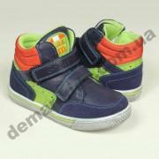 Детские осенне-весенние ботинки Солнце сине-зелено-оранжевые