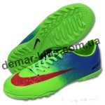 Детские футбольные сороконожки Nike Mercurial зеленые
