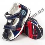 Детские босоножки Jong Golf  A881-1/A885-1 сине-белые