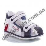 Детские босоножки Jong Golf  A906-7 бело-синие