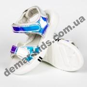 Детские голографические босоножки Jong Golf C30006-27 серебристый хамелеон