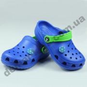 Детские кроксы Jose Amorales синие мячик