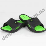 Детские сланцы ( шлепки, вьетнамки ) Wink черно-зеленые 2