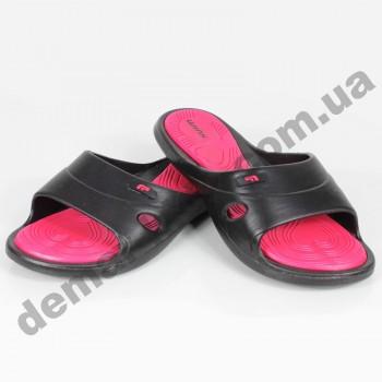 Детские сланцы ( шлепки, вьетнамки ) Wink черно-розовые 2