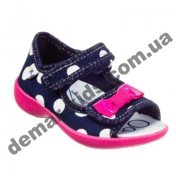 Детские босоножки-тапочки 3F Fredom For Feet Maja 3SA22/5 синие в горошек