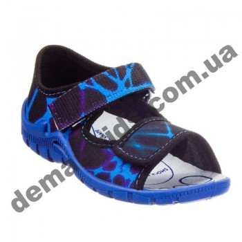 Детские босоножки-тапочки 3F Fredom For Feet Sfinks 3TR22/6 черно-синие