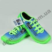 Детские кеды-тапочки 3F Fredom For Feet MIDAS 3RX14/2 зелено-голубые