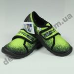 Детские тапочки 3F Fredom For Feet PLUTON 4RX4/3 черно-лимонные