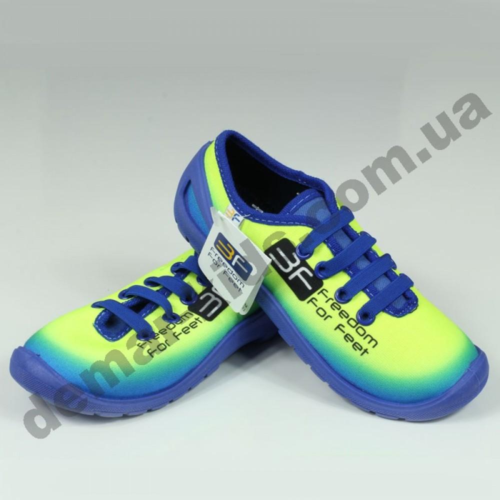 Детские кеды-тапочки 3F Fredom For Feet MIDAS 3RX14 1 сине-лимонные 39a82e43e137e