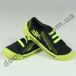 Детские кеды-тапочки 3F Fredom For Feet MEKSYK 4SK10/1 черно-зеленые