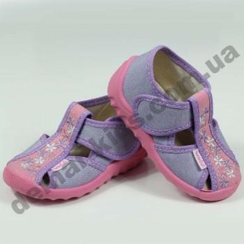 Детские тапочки Waldi розово-фиолетовые малютки
