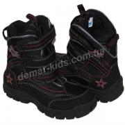 Детские термоботинки SUPER GEAR А 8419 / 9192  (черно-красные)
