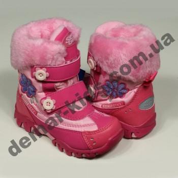 Детские термоботинки SUPER GEAR А 9384 (розовые)
