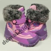 Детские термоботинки SUPER GEAR А 9384 (фиолетовые)
