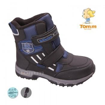 Детские термоботинки Том М черно-синие большие ( 36 )