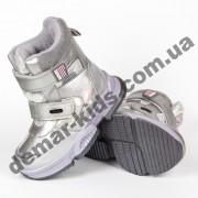 Детские термоботинки Том М C-T7832-C серебряные 27-32