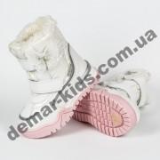 Детские термоботинки Том М C-T7675-F белые 23-28