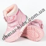 Детские термоботинки Том М C-T7677-M розовые 23-28