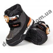 Детские термоботинки Том М C-T7674-A коричнево-оранжевые 23-28