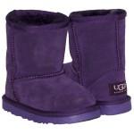 Детские угги UGG  KIDS CLASSIC SHORT (фиолетовый замш )