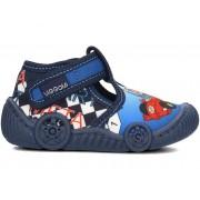 Детские тапочки Wiggami машинки синие маленькие