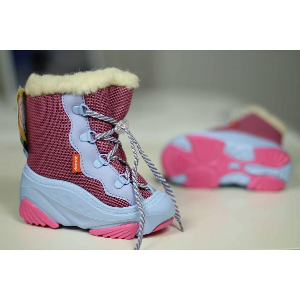 Купить детские зимние дутики Демар Demar Snow Mar a розовые недорого 3a6fffd3580e4