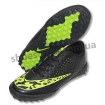 Детские футбольные сороконожки Nike черно-зеленые
