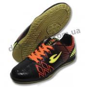 Подростковые футбольные футзалки Lancast черно-оранжевые
