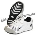 Детские кроссовки Nike бело-синие 002( винил )