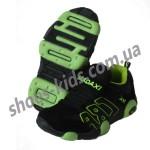 Детские кроссовки MADAXI  черно-зеленые