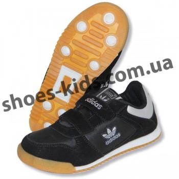 Детские кроссовки Адидас черные полиуретан