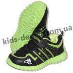 Детские кроссовки Adidas черно-зеленые ( пенка )