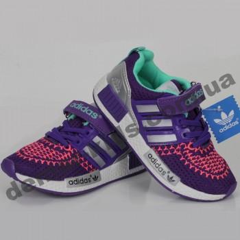 Детские кроссовки Adidas фиолетово-терракотовые