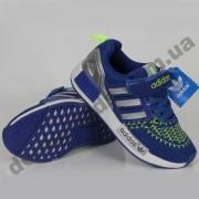 Детские кроссовки Adidas сине-салатовые