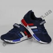 Детские кроссовки Adidas сине-бело-красные