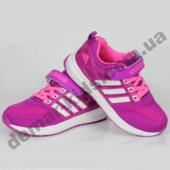 Детские кроссовки Adidas малиново-белые