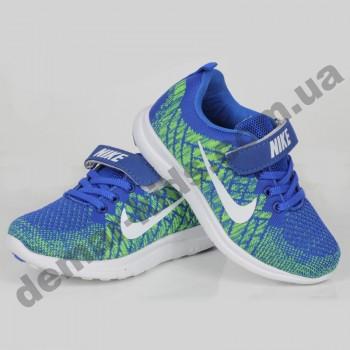 Детские кроссовки Nike сине-зеленые