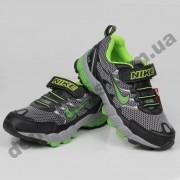 Детские кроссовки Nike серебристо-зеленые