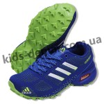 Детские кроссовки Adidas сине-зеленые ( подросток ) NEW