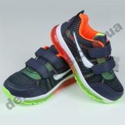 Детские кроссовки MLV-kids сине-оранжевые ( сетка )