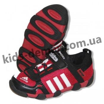 Детские кроссовки Adidas Daroga черно-красные ( сетка )