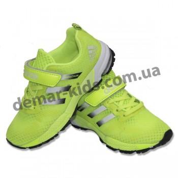 Детские кроссовки Adidas Marathon салатовые