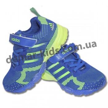 Детские кроссовки Adidas Marathon flyknit сине-зеленые