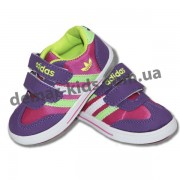 Детские кроссовки Adidas со светодиодными мигалками фиолетово-малиновые (новинка 2016 )